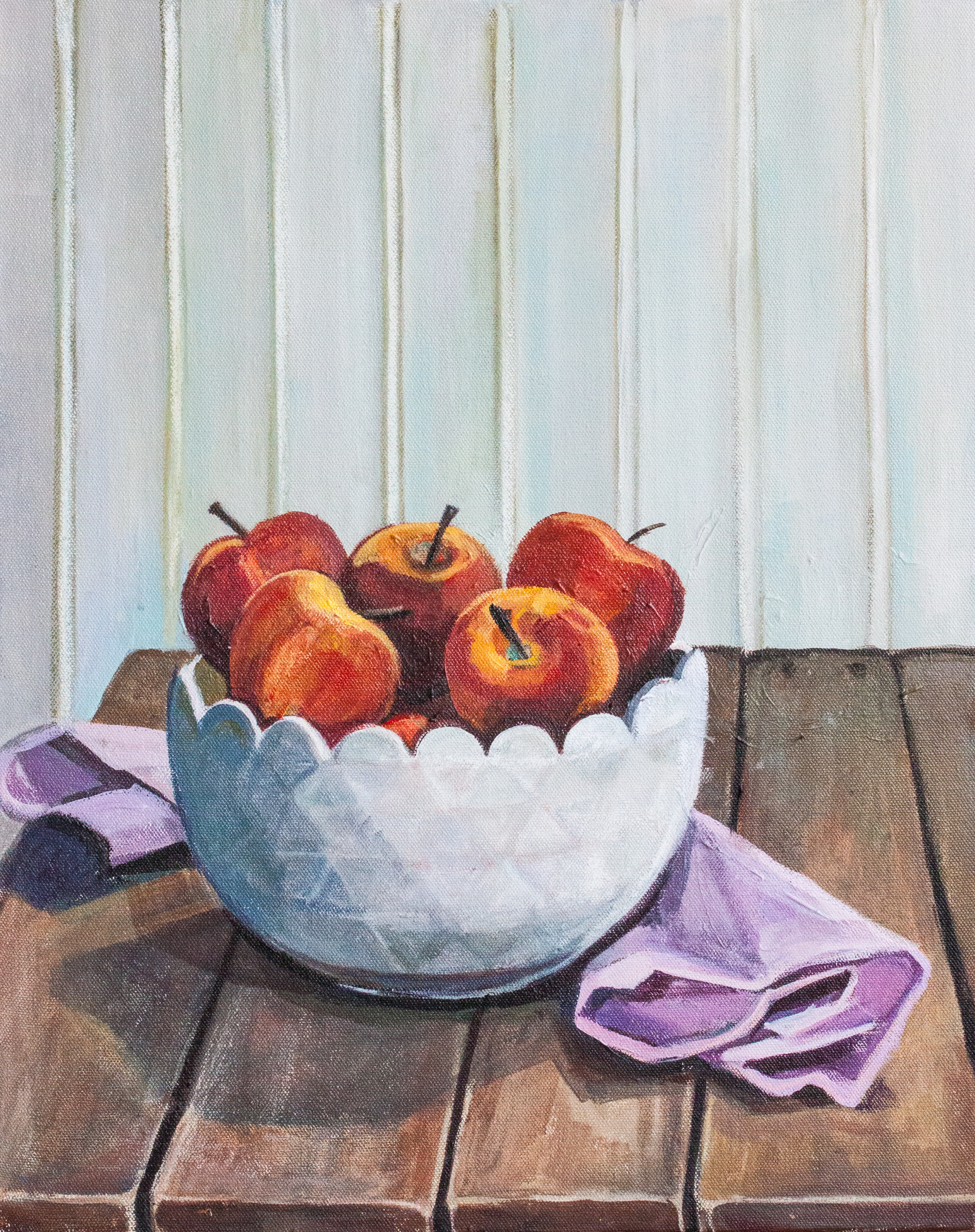 Apples. Acrylic on Canvas. Allyson Kramer, 2015