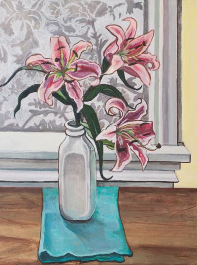 Lilies Allyson Kramer Acrylic on Canvas 2015