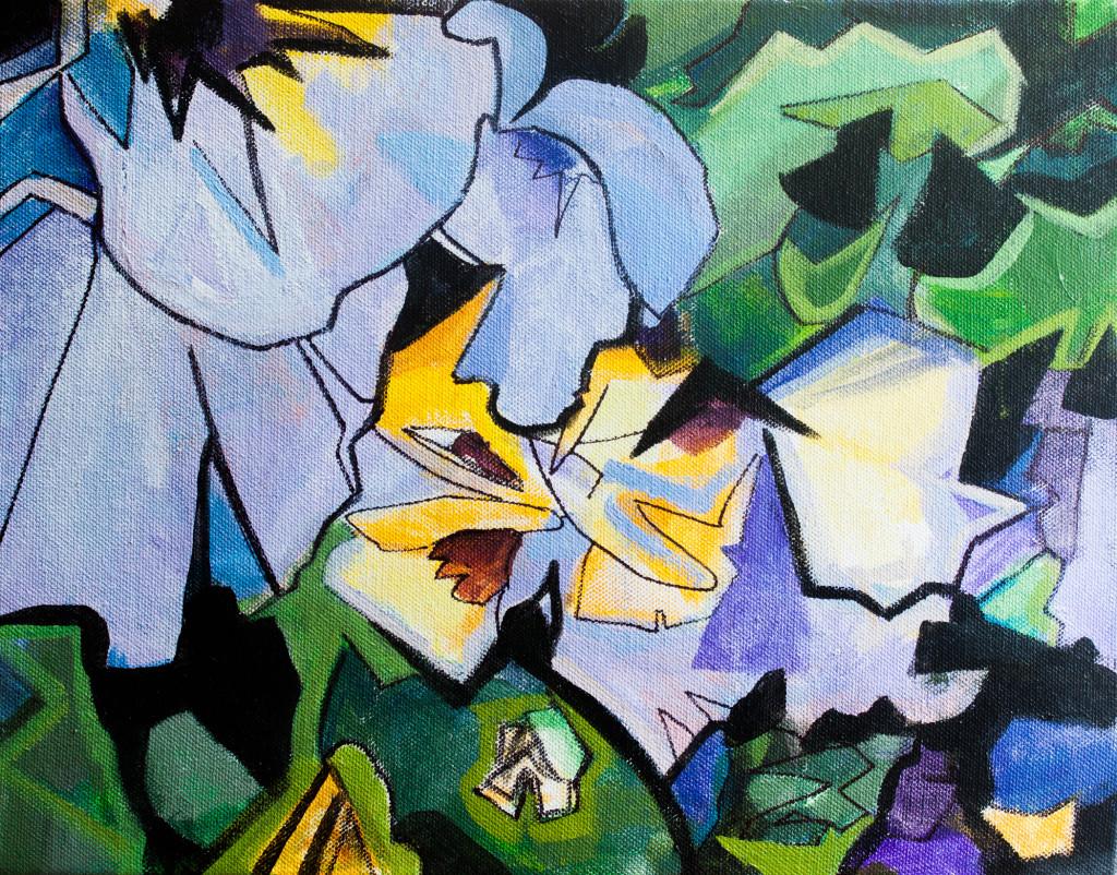 Heart's Ease Acrylic on Canvas Painting Allyson Kramer