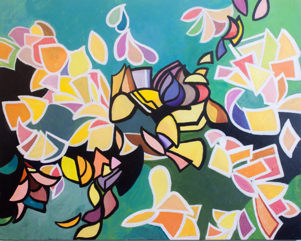 In Tandem Acrylic Fine Art PAinting on Canvas Allyson Kramer
